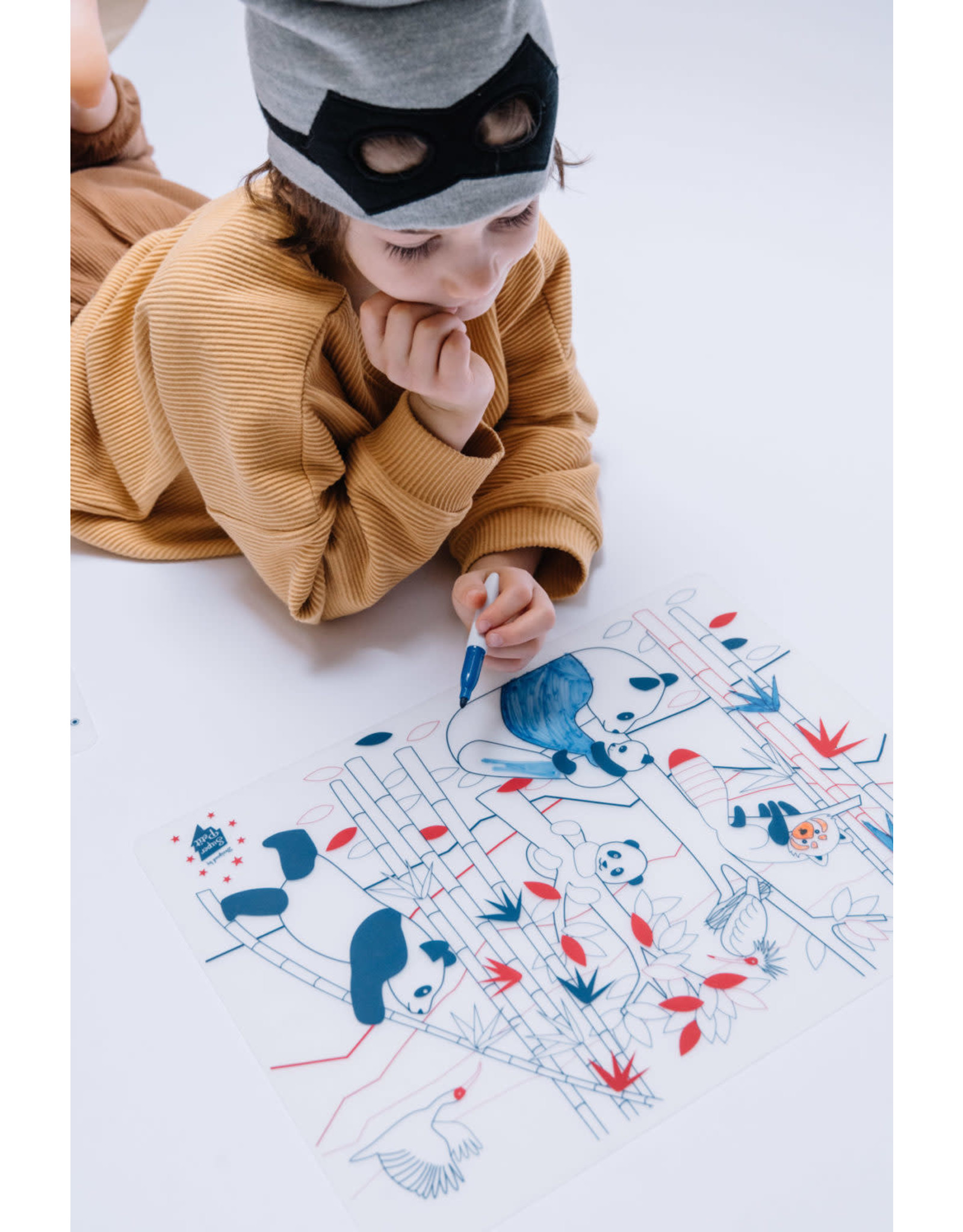 Superpetit Set de table à colorier Panda