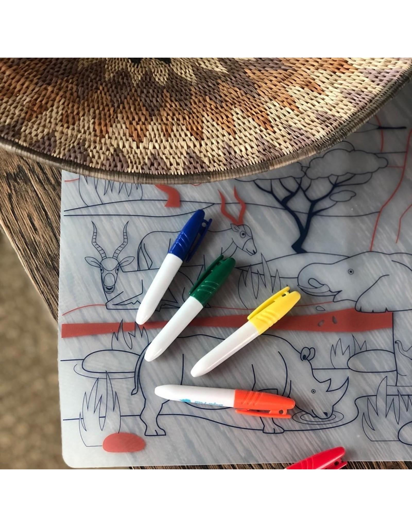 Superpetit Set de table à colorier Savane