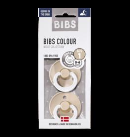 BIBS Bibs Tétines  Glow in the dark | Vanilla  / Blush - T1
