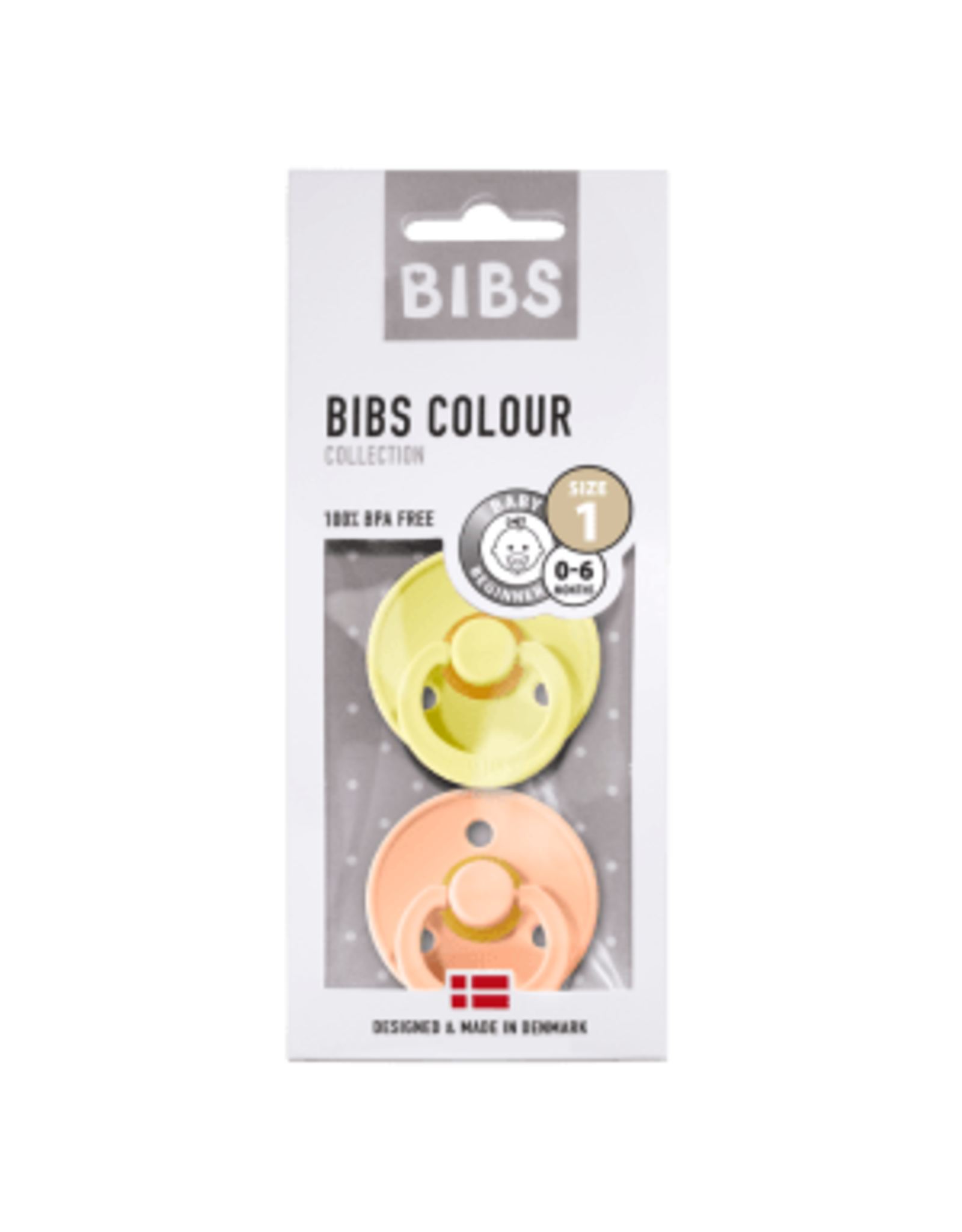 BIBS Tutes -  blister Peach Sunset/Sunshine T1