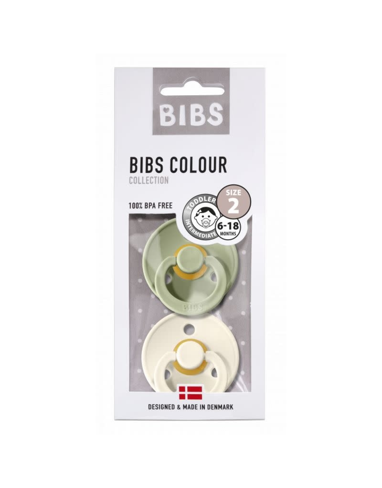 BIBS Tutes -  blister Sage / Ivory T2