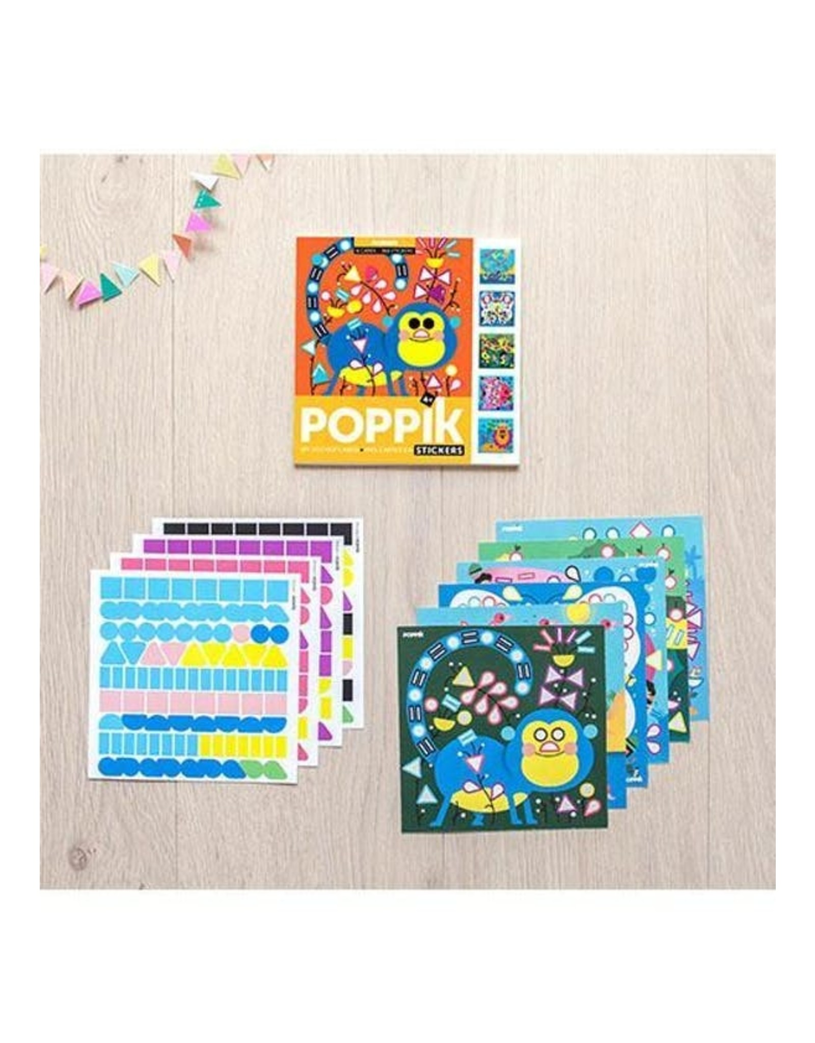 Poppik Mes cartes en stickers - ANIMALS