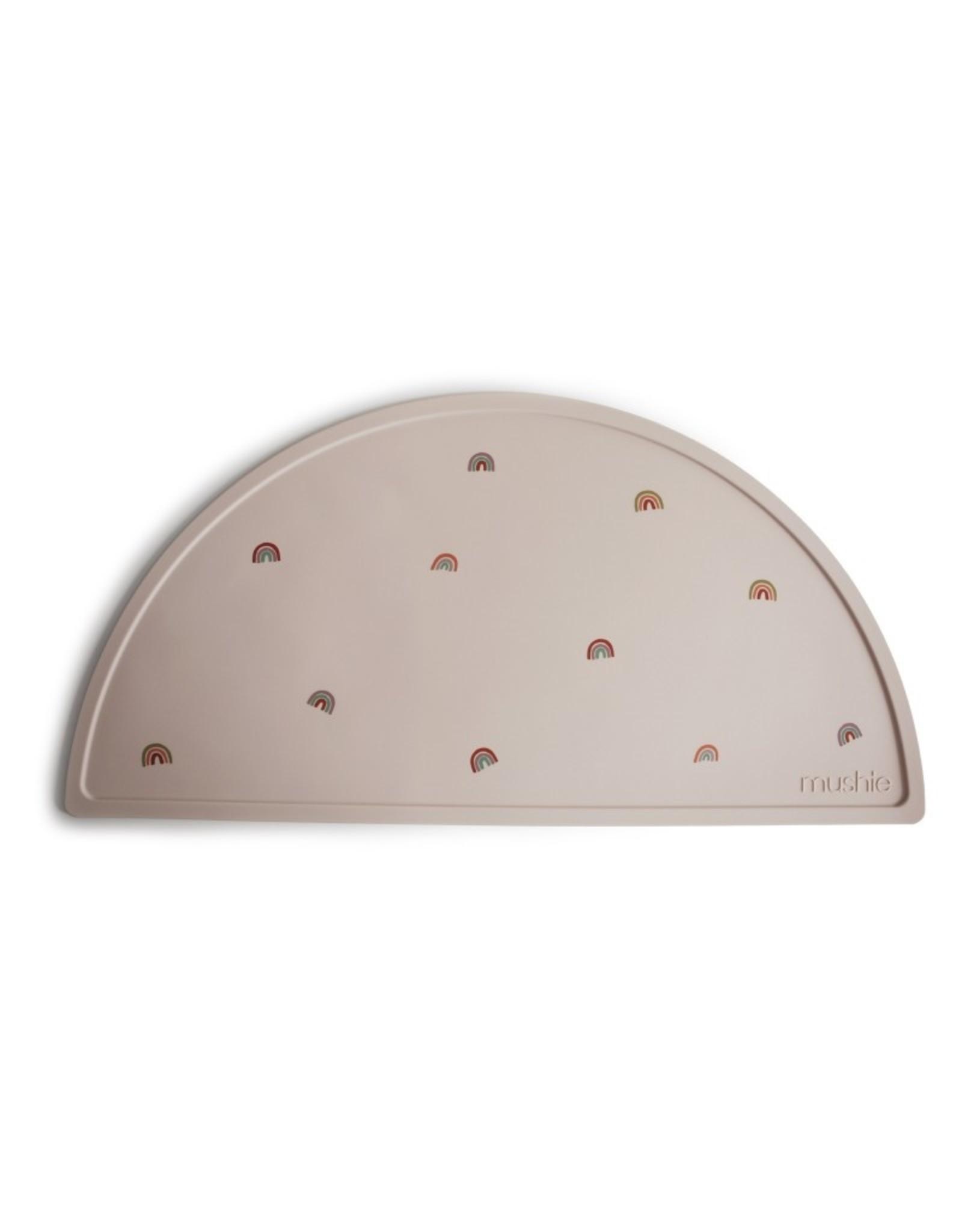 BIBS / mushie Set de table en silicone - arc en ciel