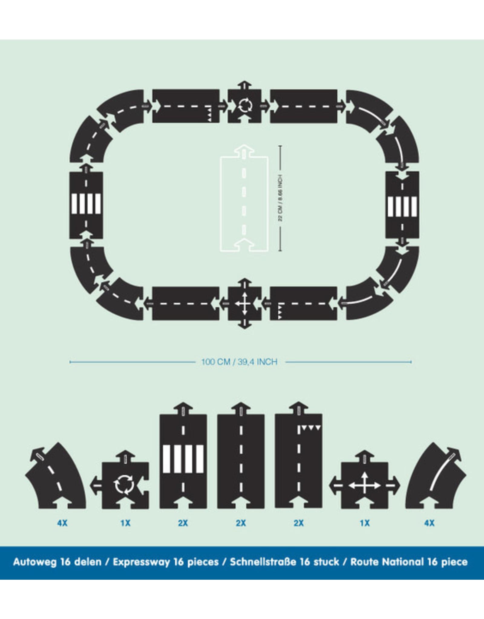 Way to play Circuit Express way  - 16 pieces
