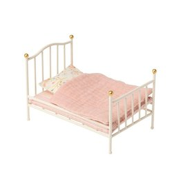 MAILEG Vintage Bed, Mouse, Off White