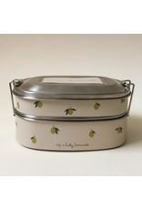 Konges Slojd Lunch Box en acier / Lemon