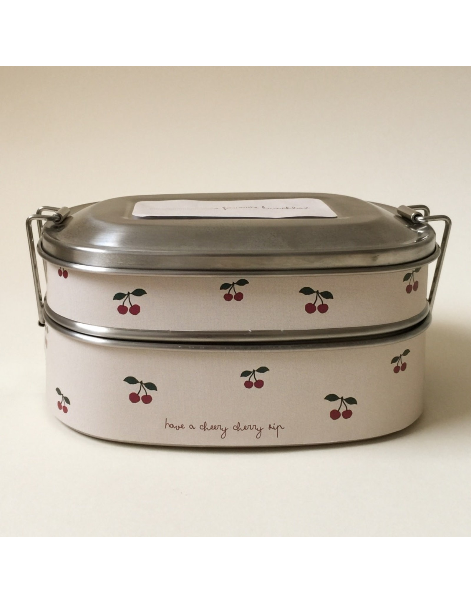 Konges Slojd Lunch Box en acier / Cherry