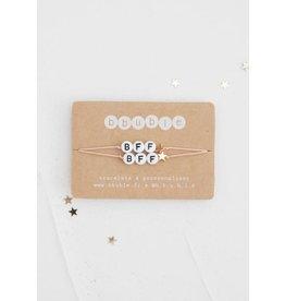 Bbubble duo de bracelets / blanc / BFF (etoile)