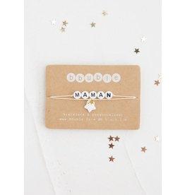 Bbubble Bracelet / blanc / Maman + charm