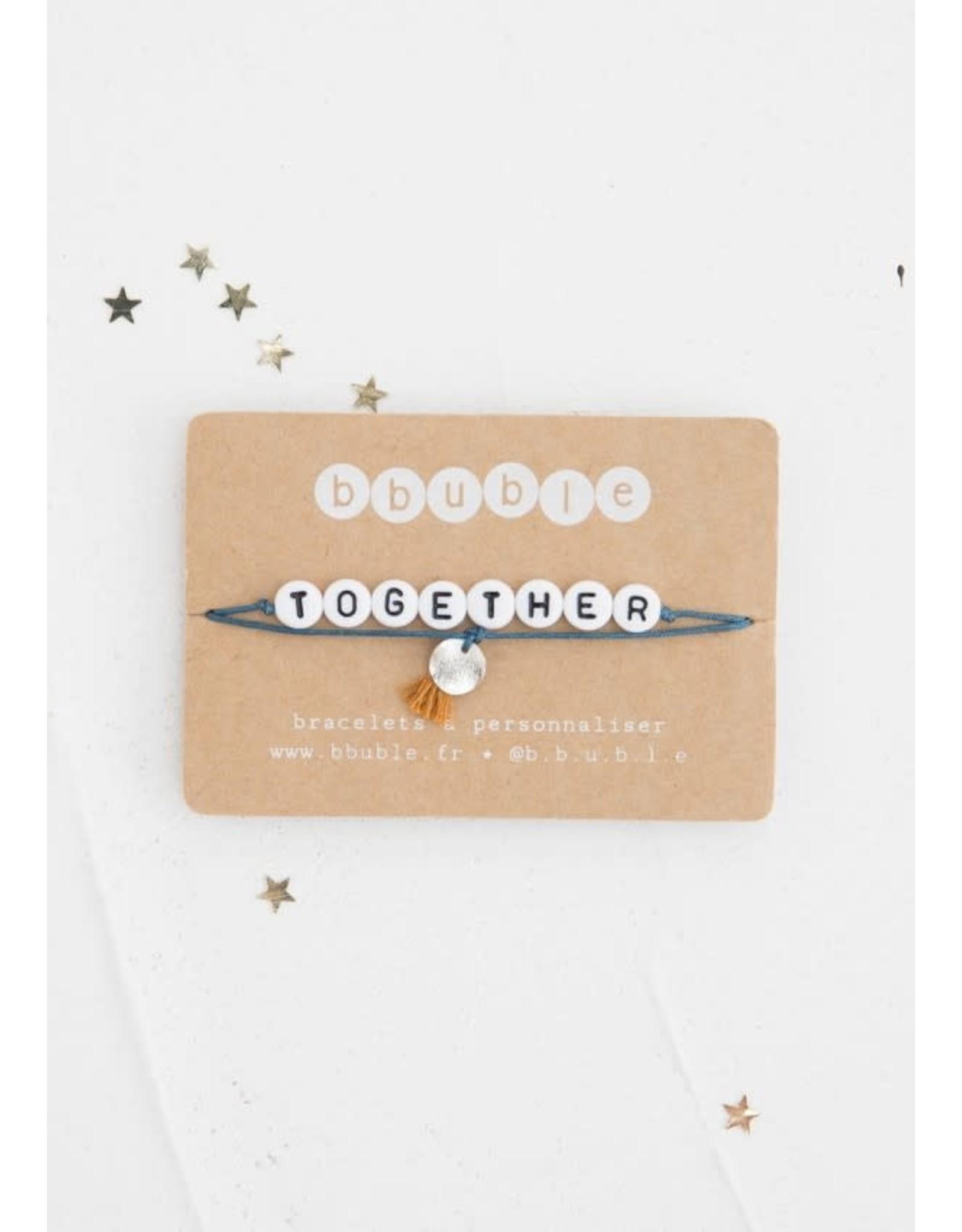 Bbubble Bracelet / blanc / Together + charm