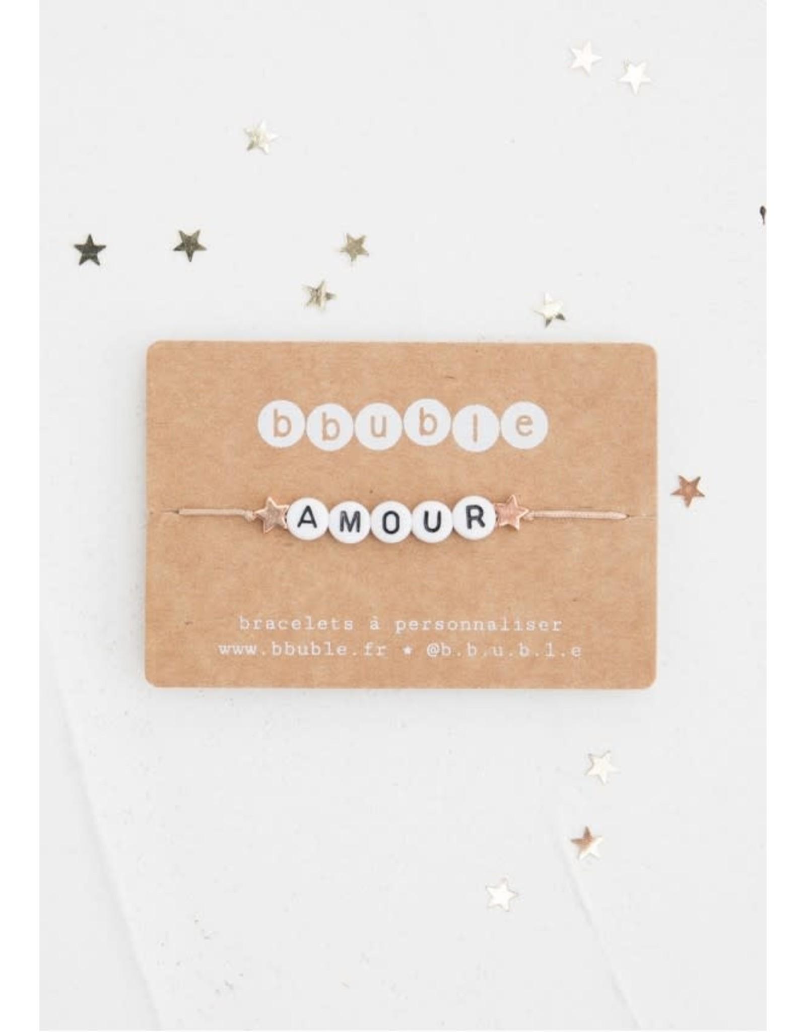 Bbubble Bracelet / blanc / (etoile) Amour (etoile)