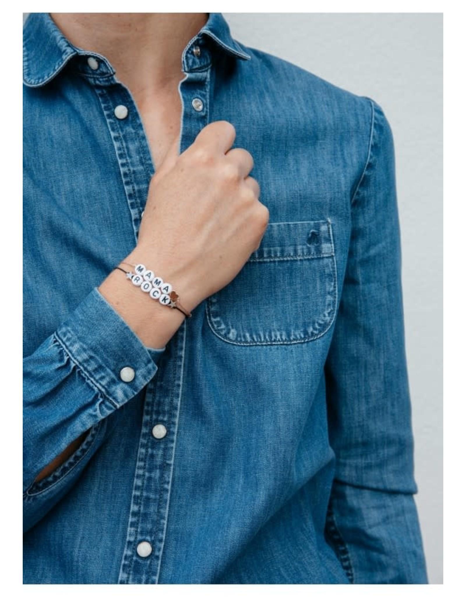 Bbubble Bracelet / blanc / (etoile) Rock (etoile)