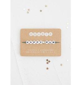 Bbubble Bracelet / blanc / Happy (etoile) Mum