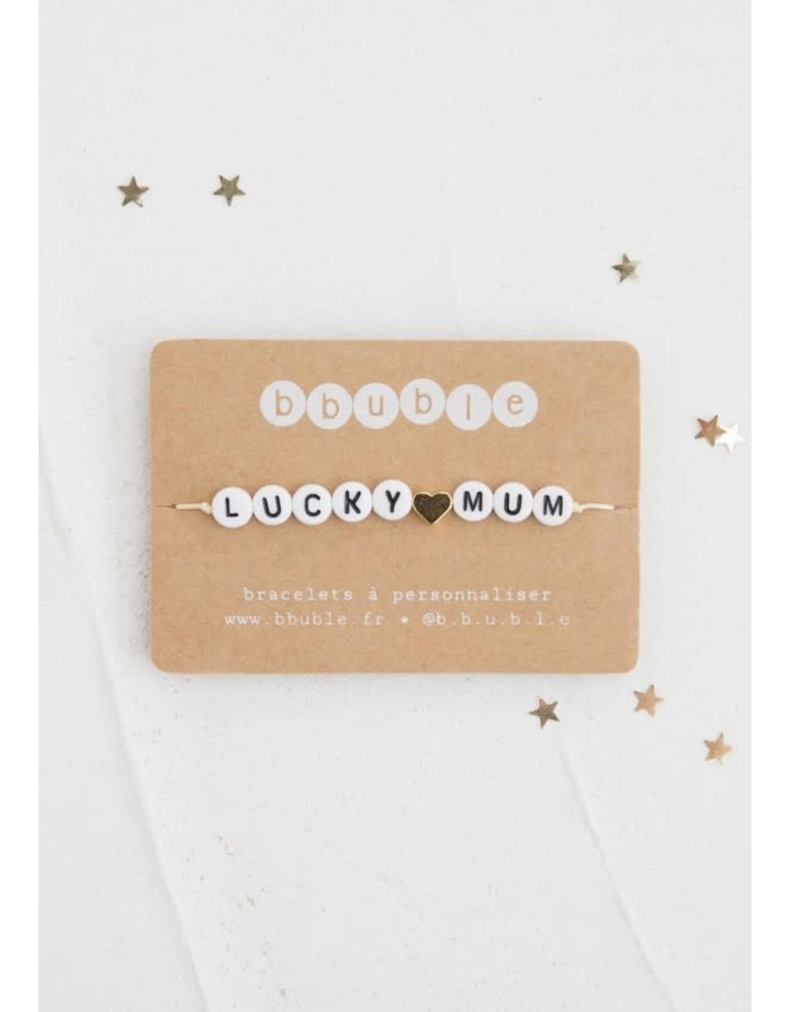 Bbubble Bracelet / blanc / Lucky (cœur) Mum