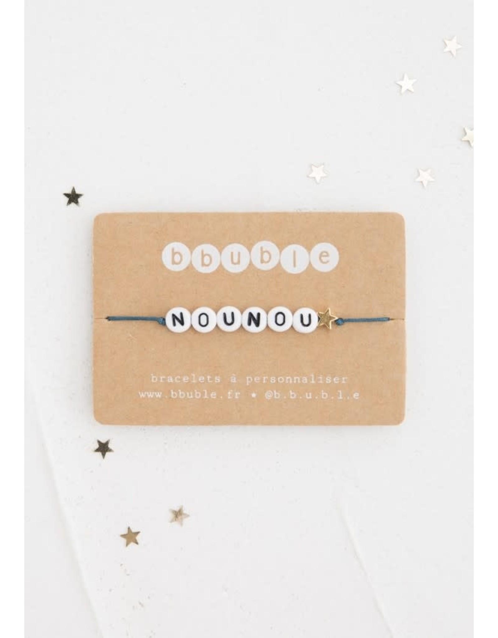 Bbubble Bracelet / blanc / Nounou + (étoile)