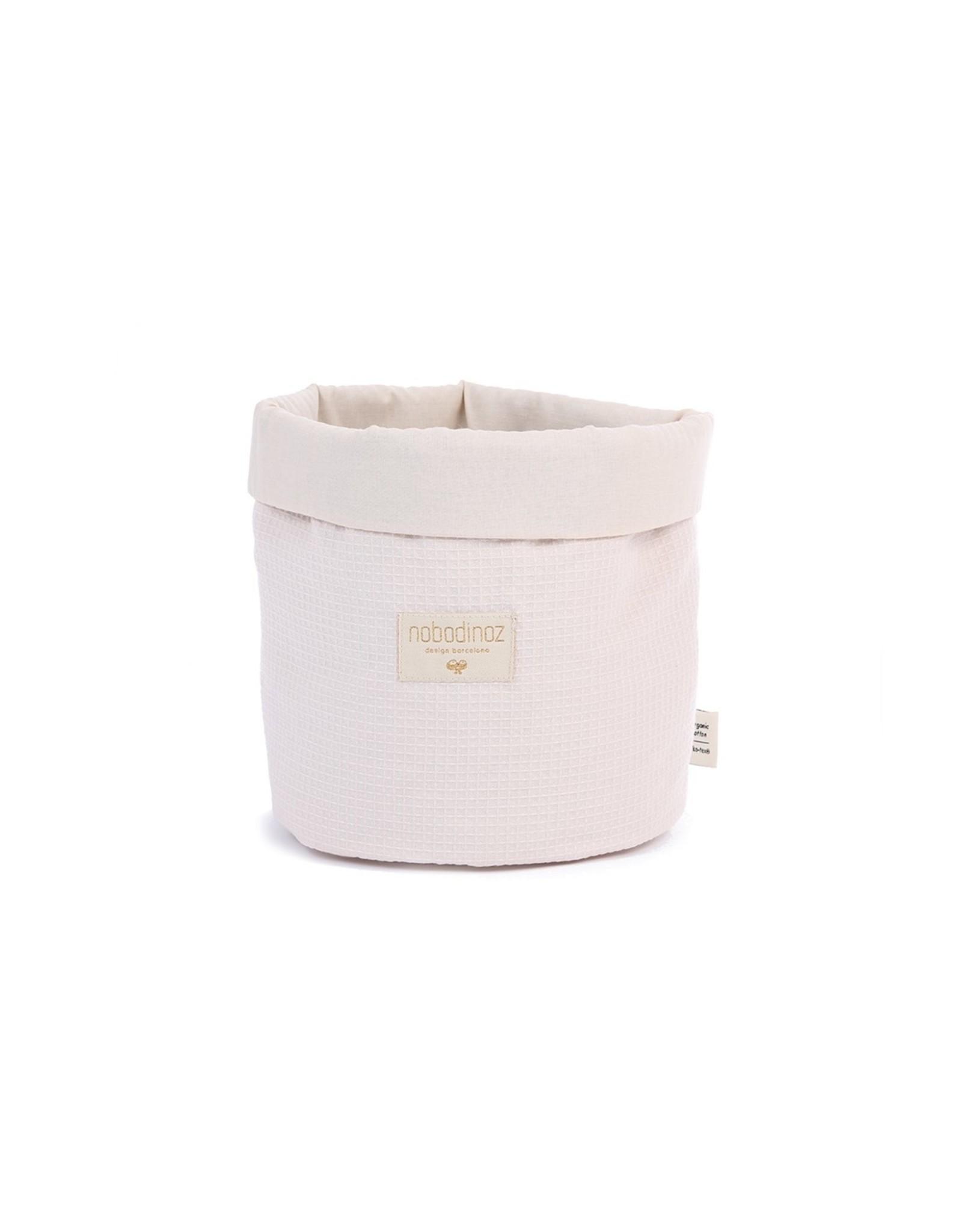 nobodinoz Panier de rangement PANDA - S - Nid d'abeille Dream pink
