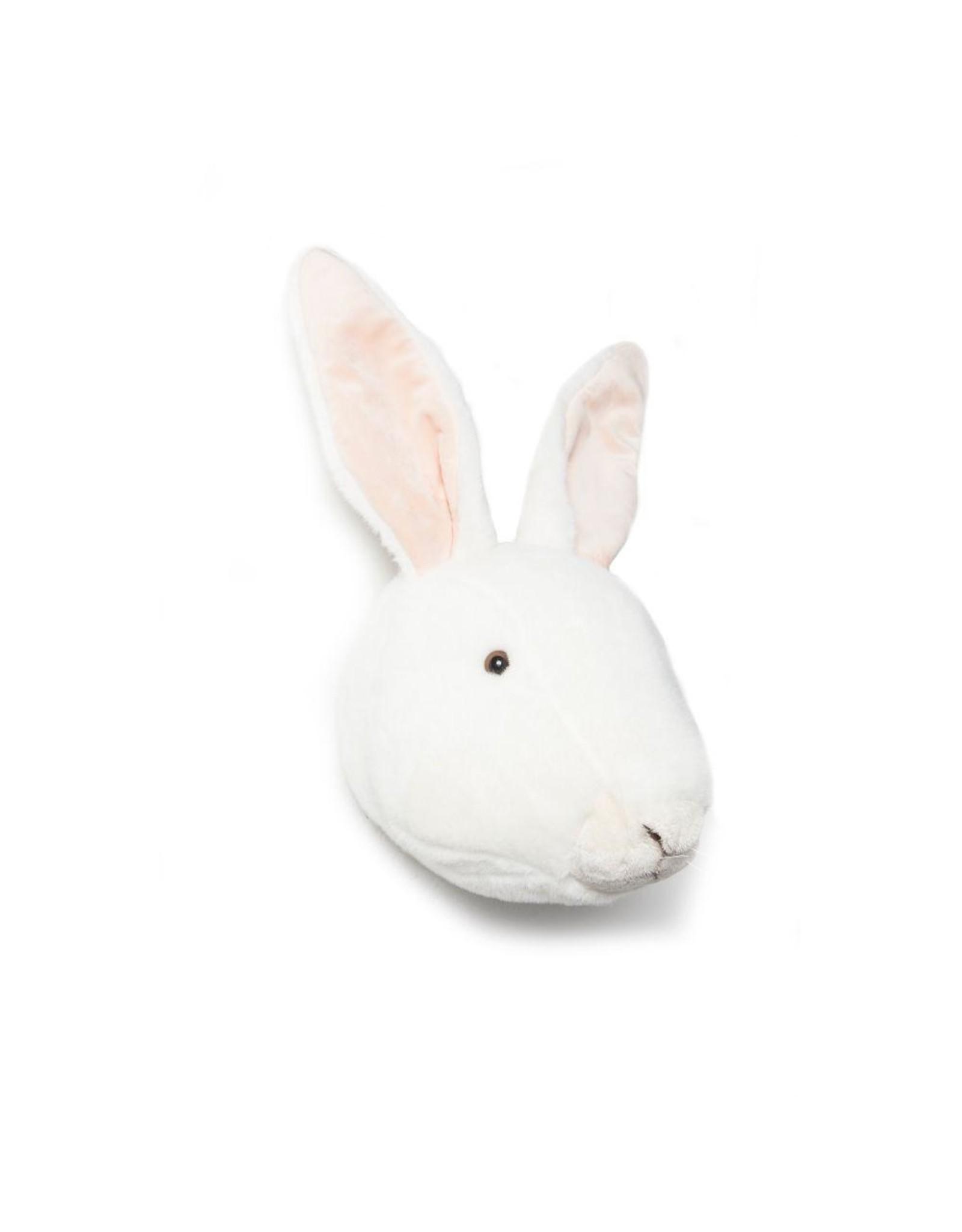 Wild & Soft Tête lapin blanc Alice
