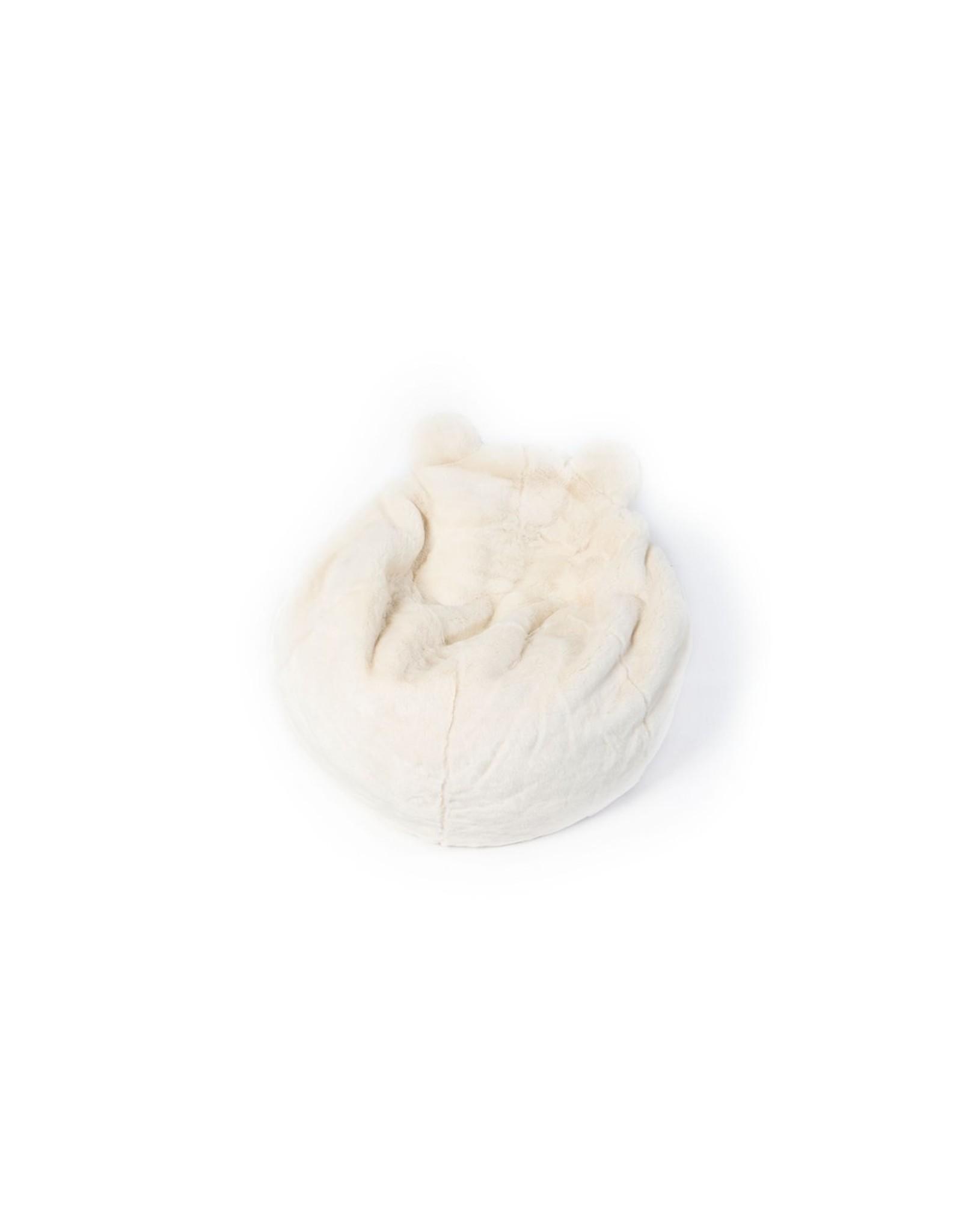 Wild & Soft Pouf ours blanc