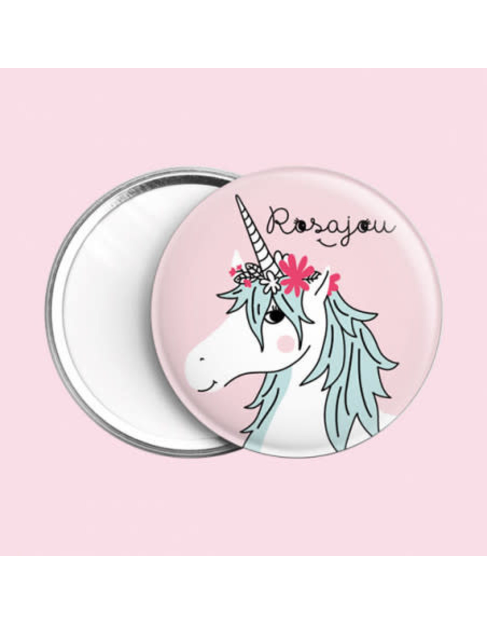Rosajou Miroir de Poche Licorne