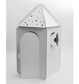 MyKabaka Cabane en carton à personnaliser - Tétragone avec les toits en triangle