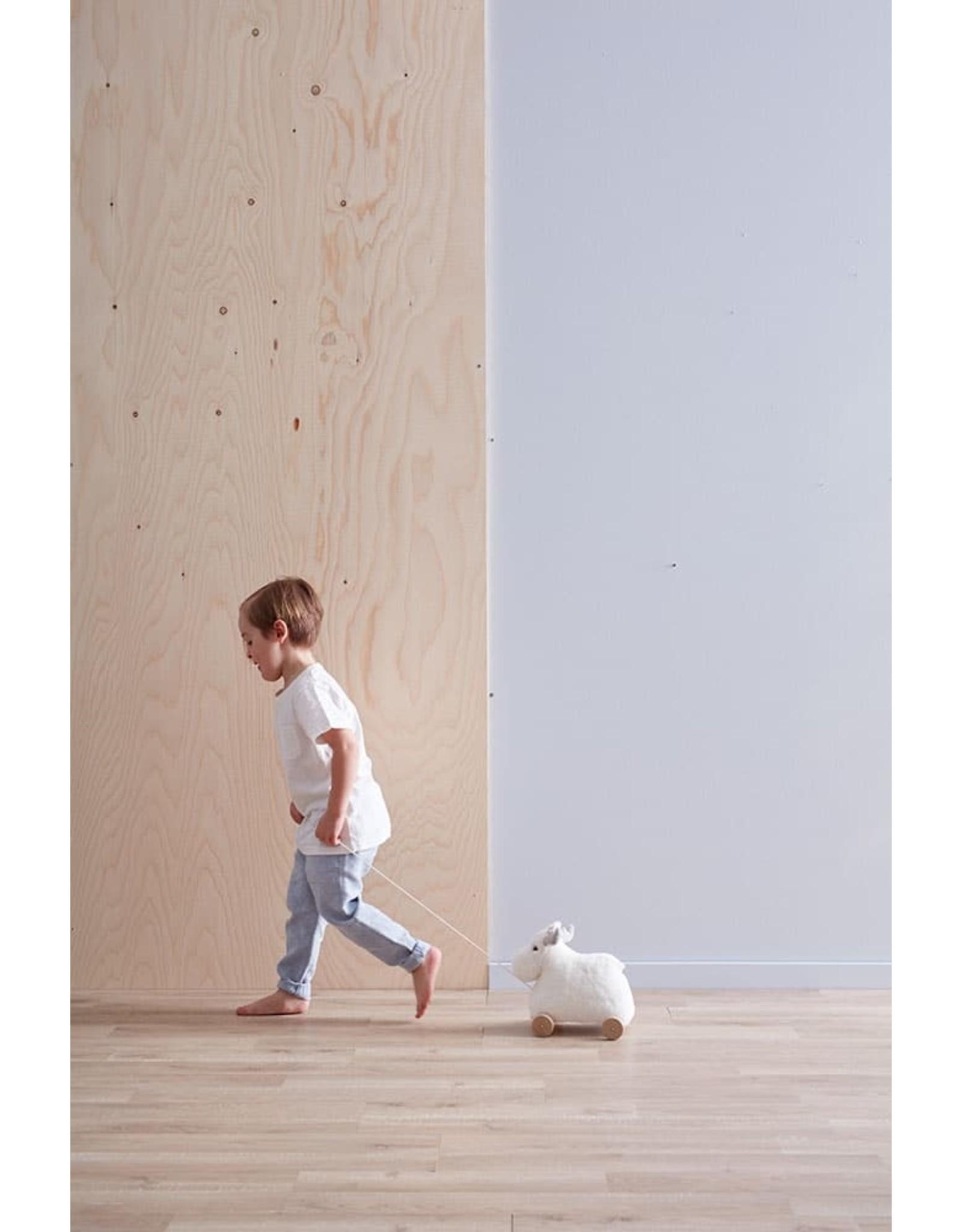 Kids Concept Renne blanc  à tirer en bois