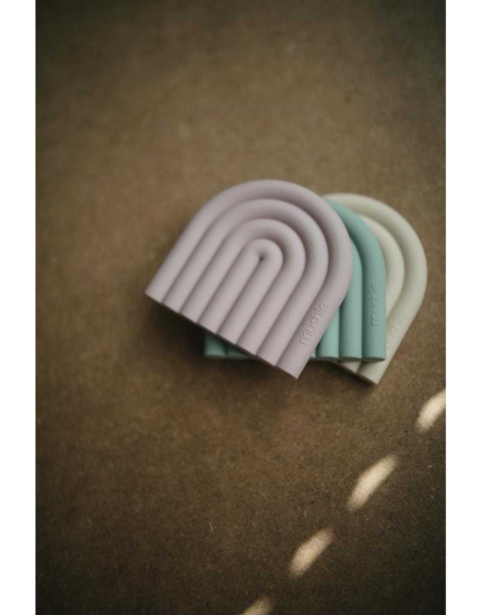 BIBS / mushie Teether  Rainbow Mauve