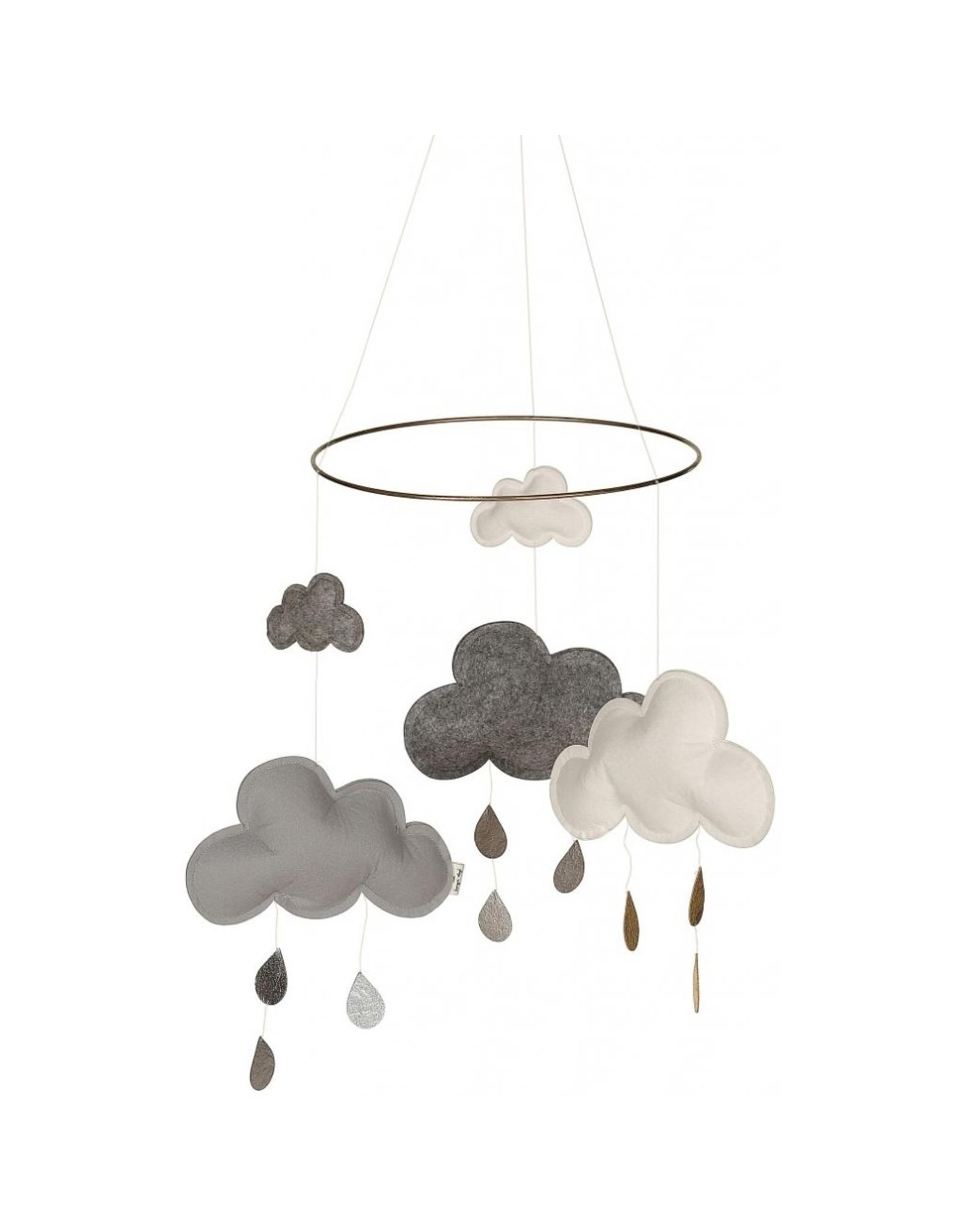 Konges Slojd Mobile nuages gris et blanc