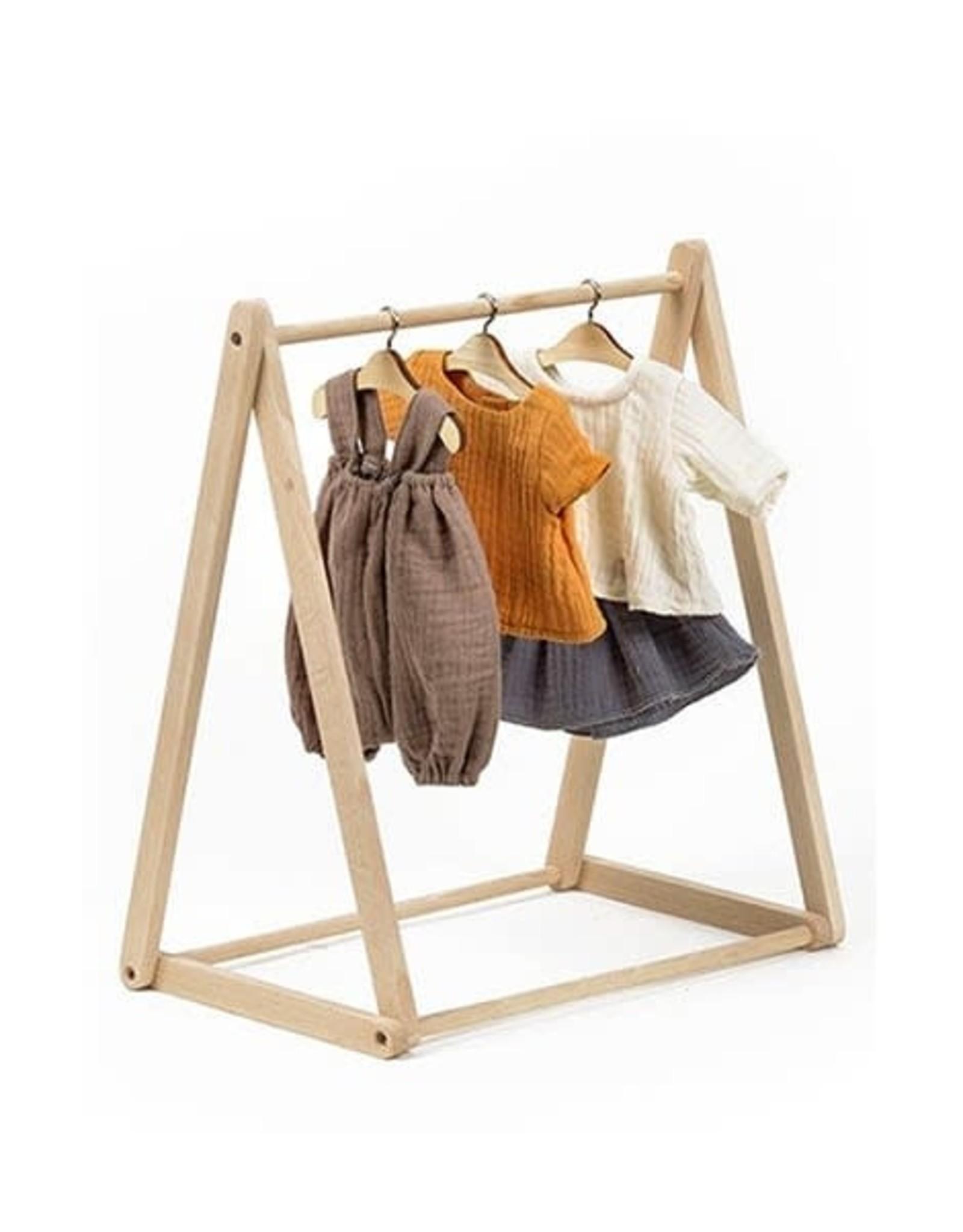Paola Reina Porte vêtements poupée en bois naturel