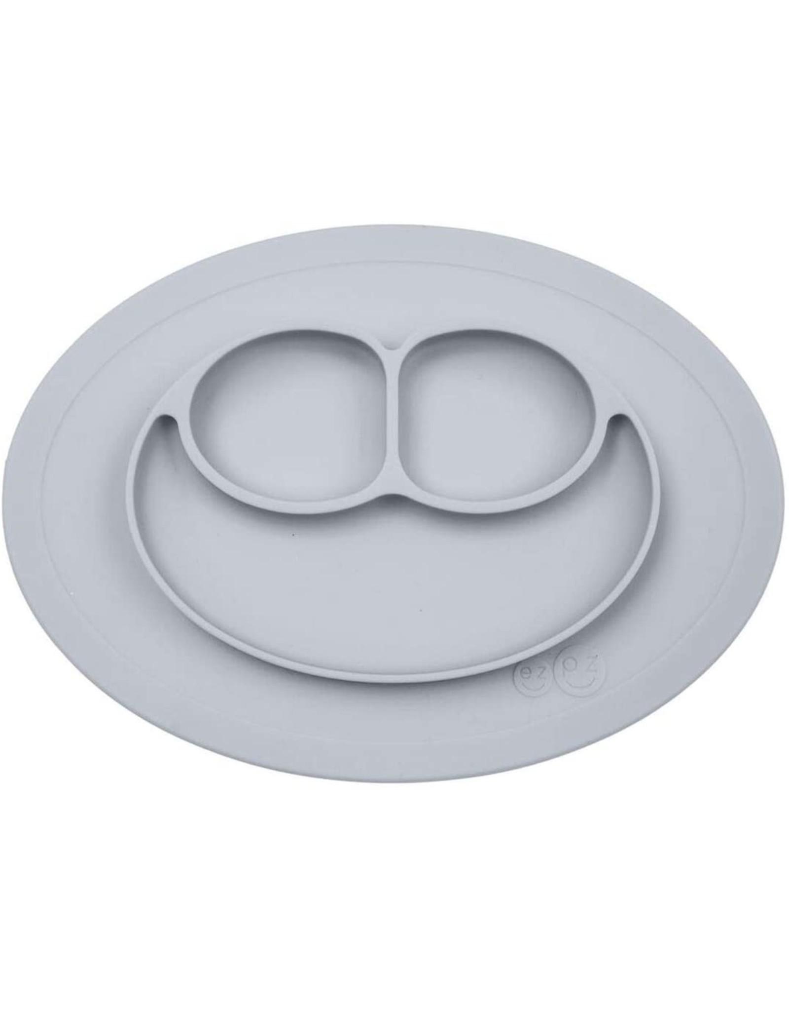 EZPZ Assiette silicone anti dérapante  - gris