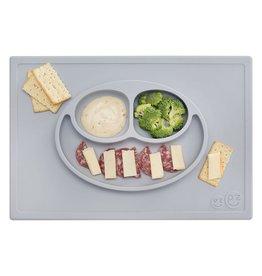 EZPZ Assiette / set de table anti dérapant - gris