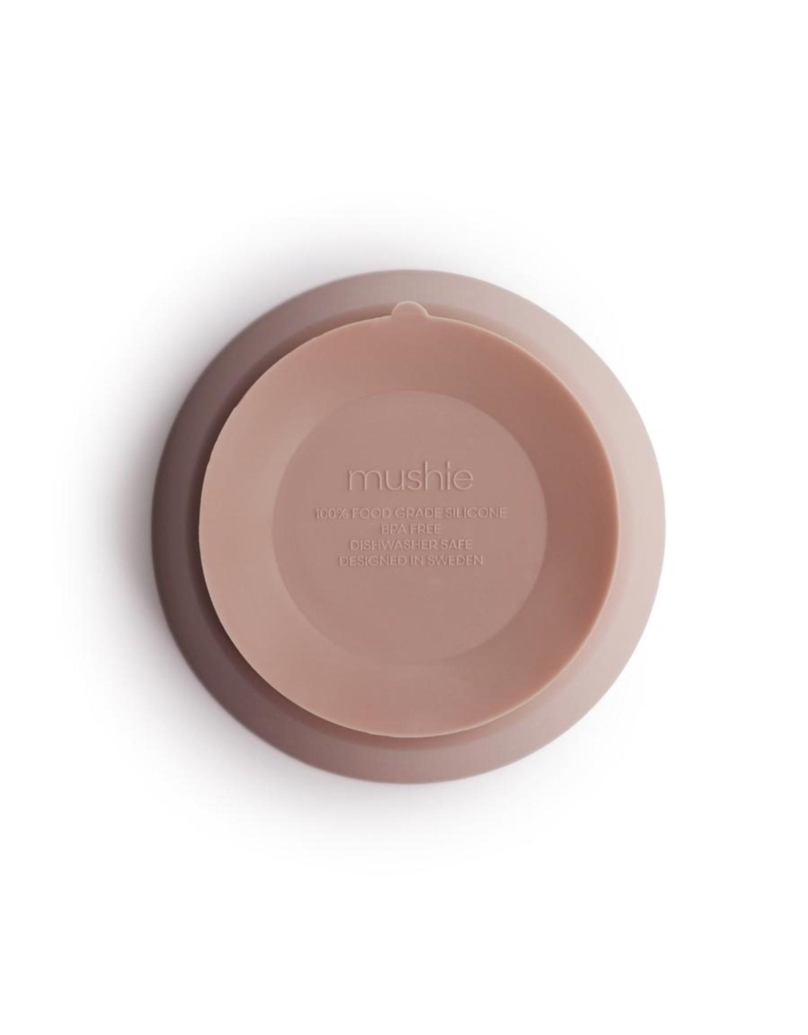 BIBS / mushie Bol en silicone + ventouse - Blush