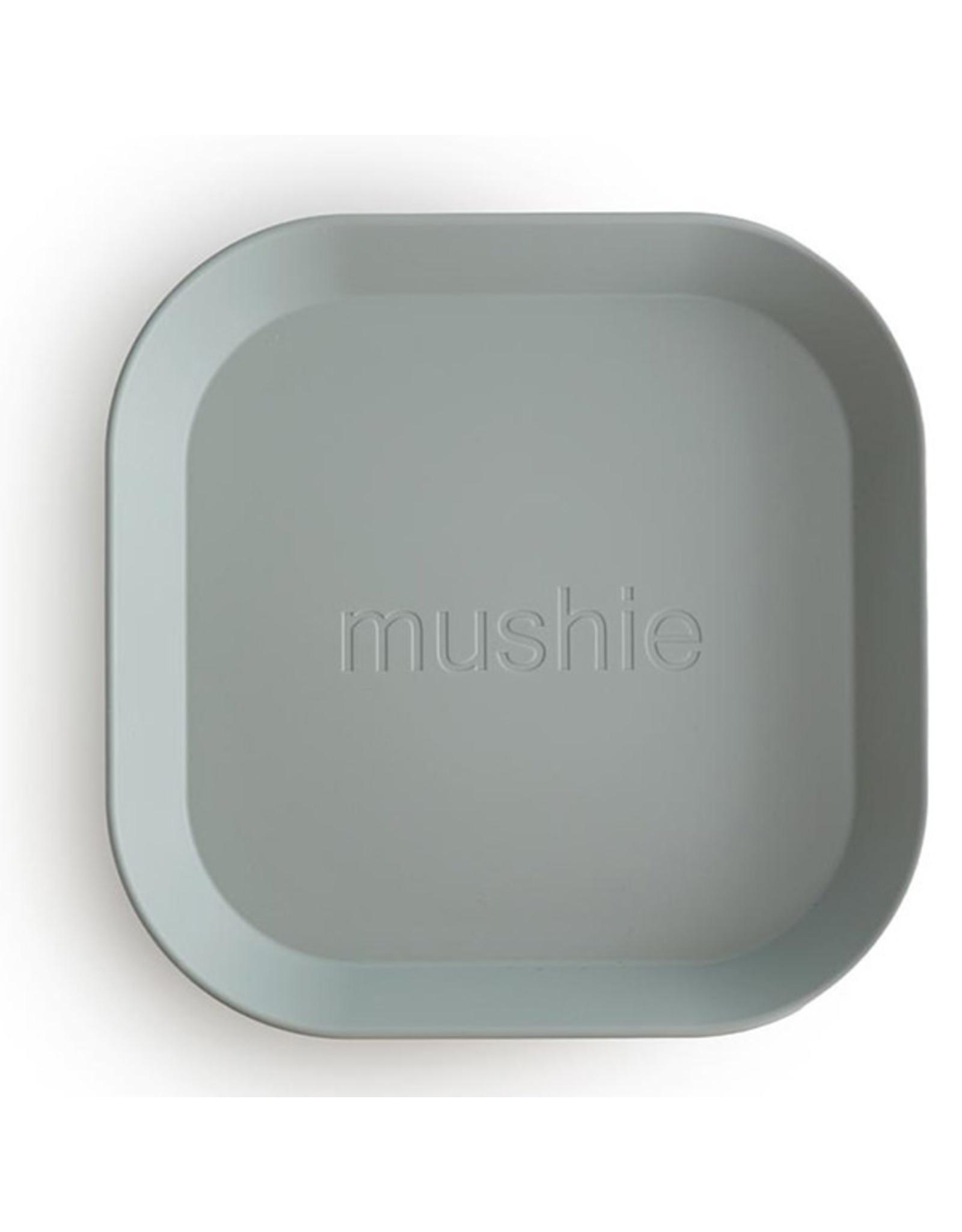 BIBS / mushie Lot de 2 assiettes - Sage