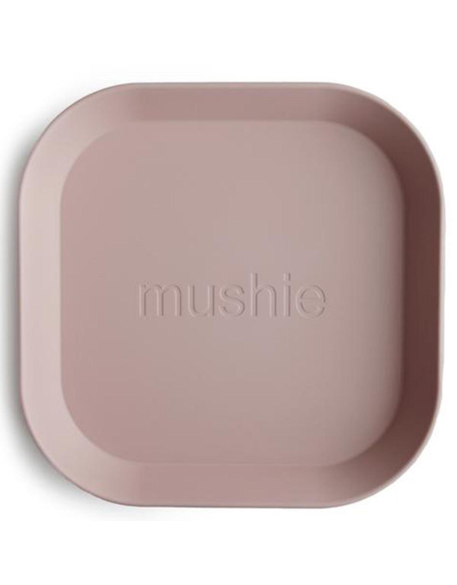 BIBS / mushie Lot de 2 assiettes - Blush