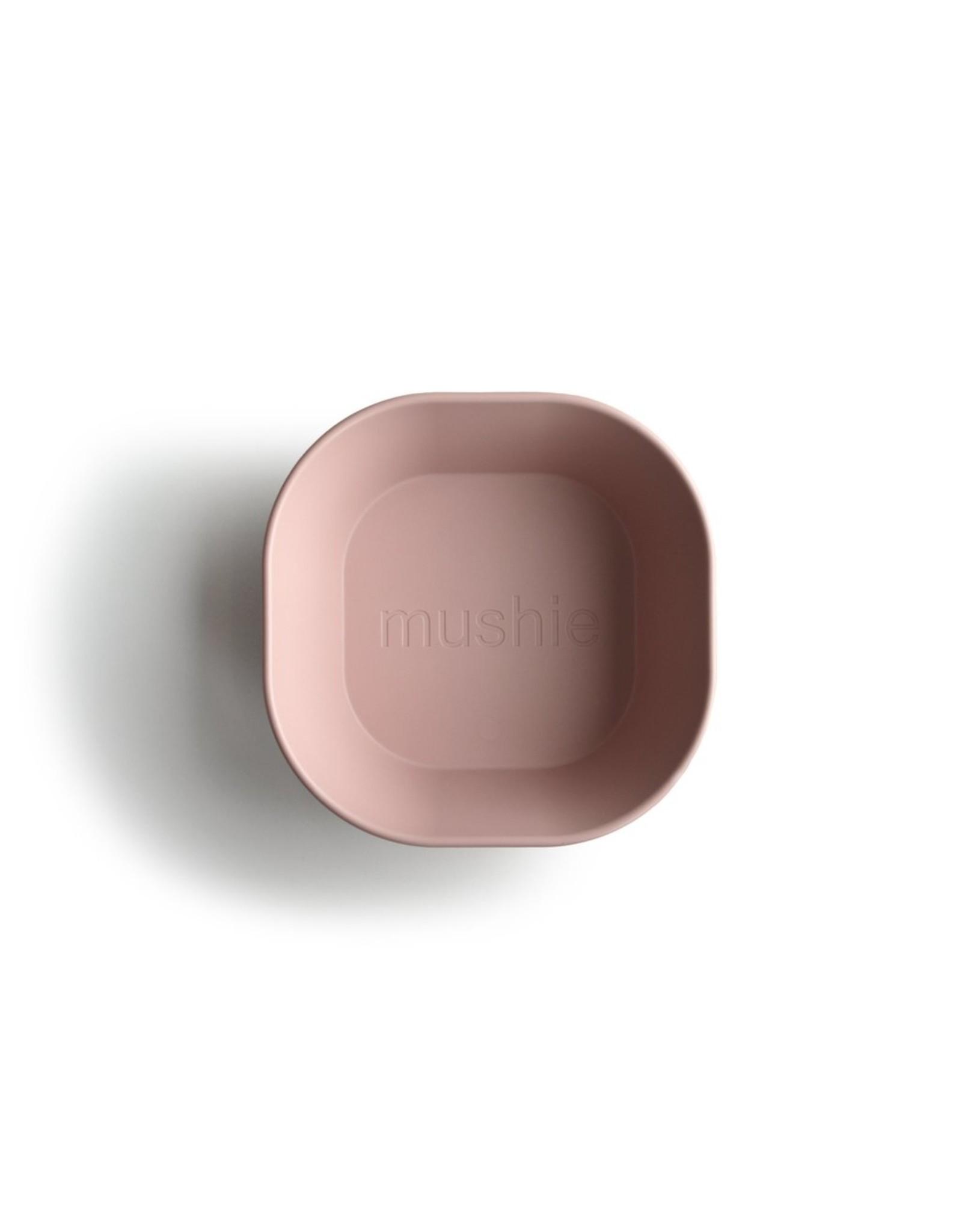 Mushie Lot de 2 bols carrés - Blush