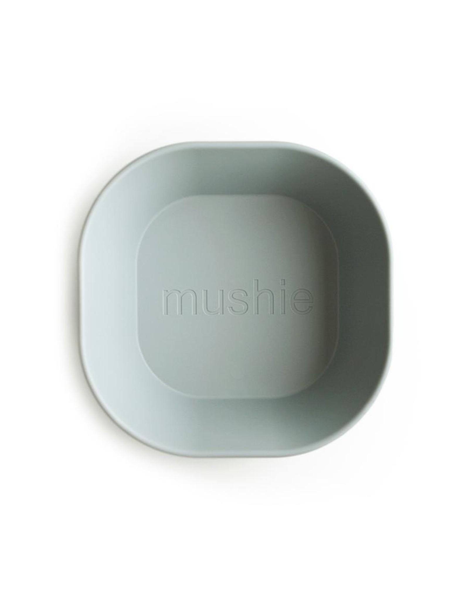 Mushie Lot de 2 bols carrés - Sage