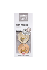 BIBS Tutes -  blister Vanilla / Peach T2