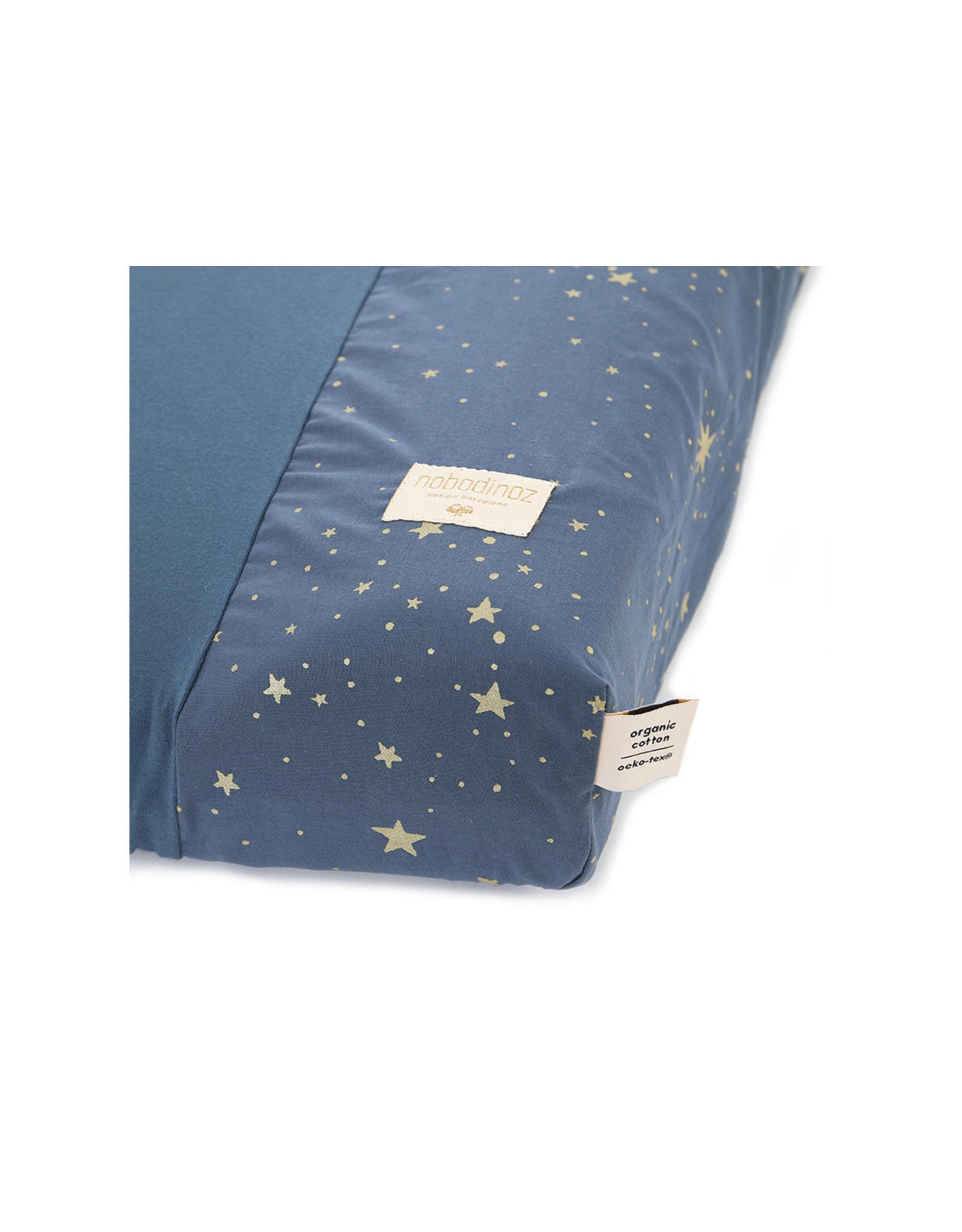 nobodinoz Housse matelas à langer Calma - Gold Stella / Night Blue