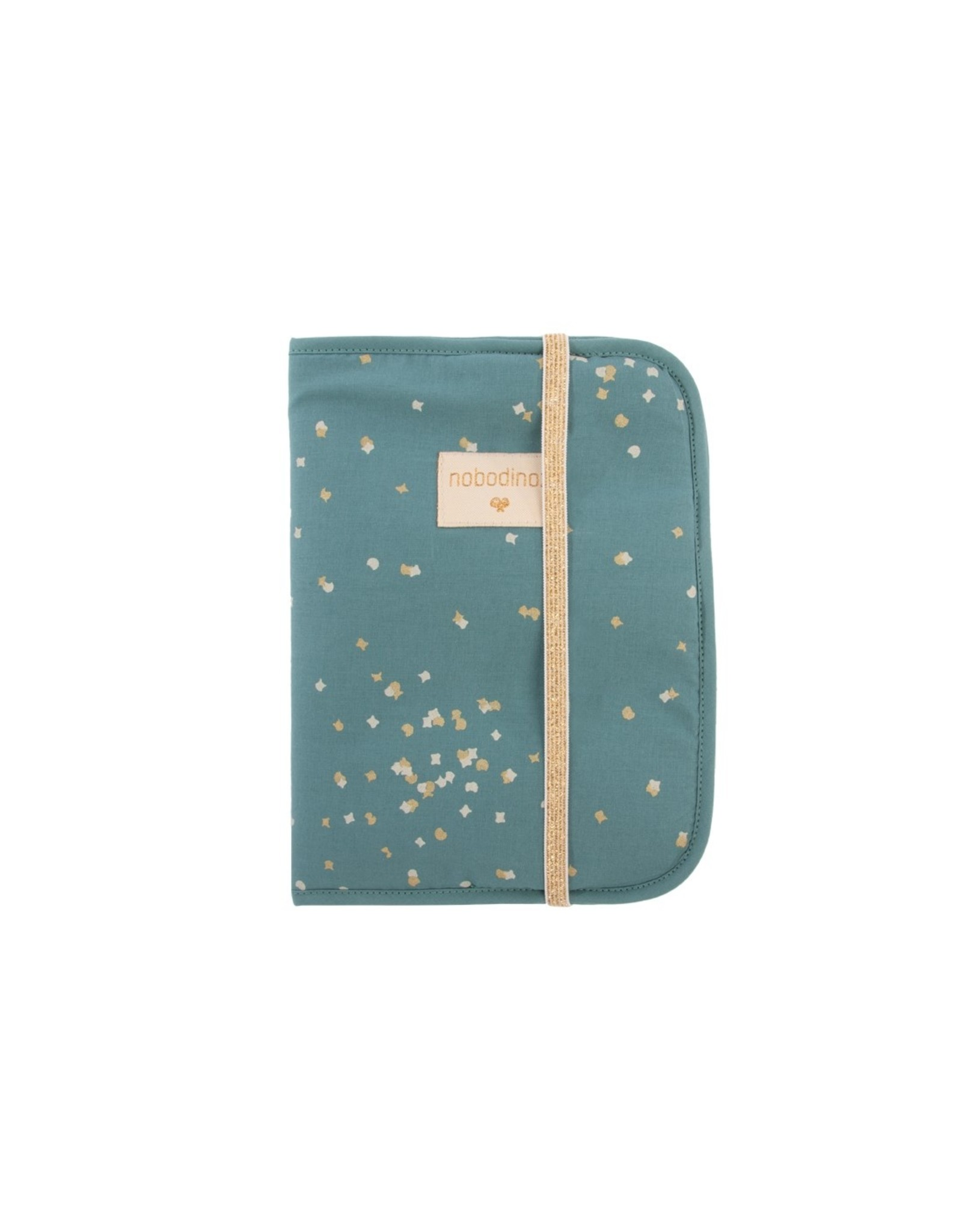 nobodinoz Protège-carnet de santé Poema - Magic Green Gold Confetti / Magic Green