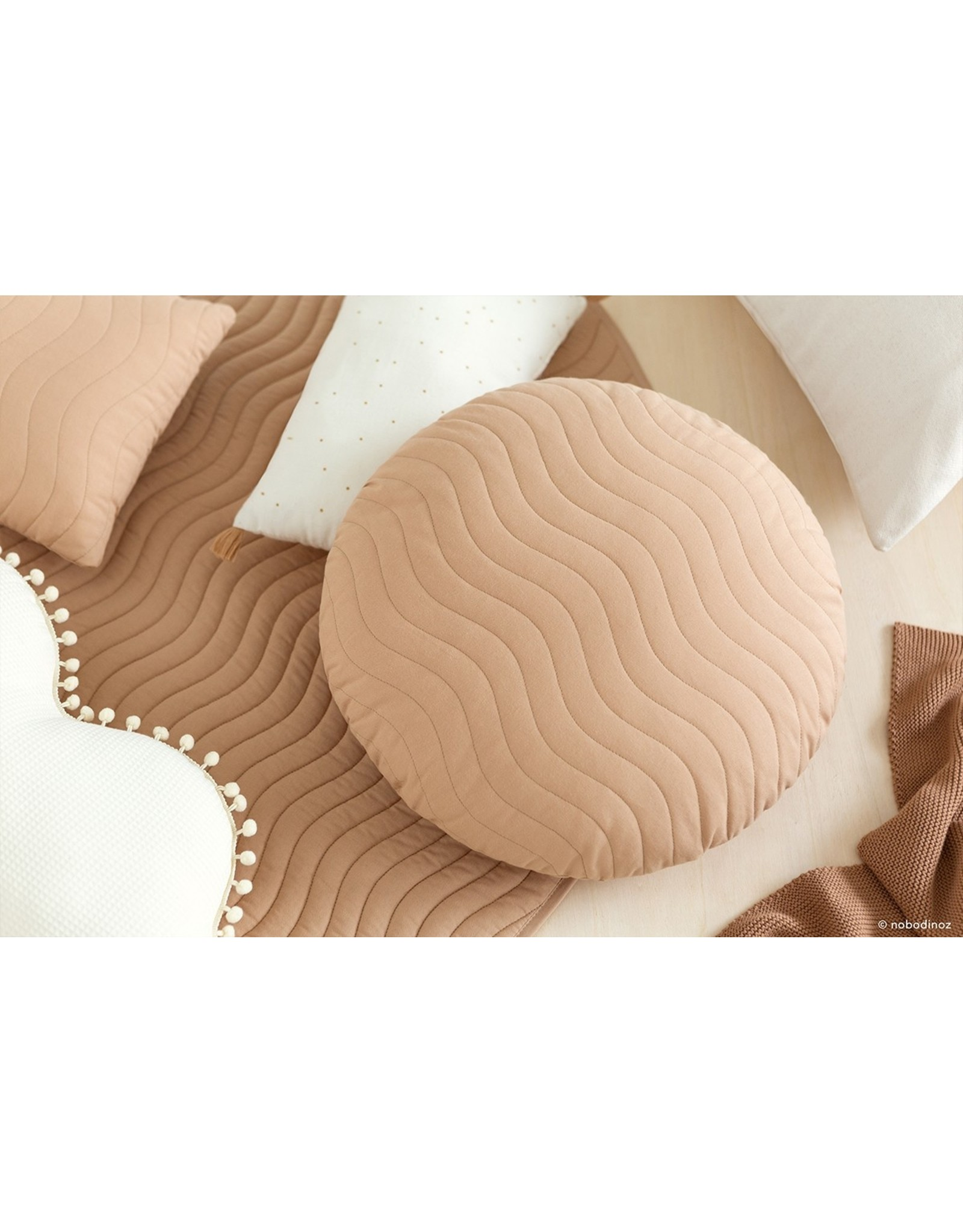 nobodinoz Coussin Sitges- Nude