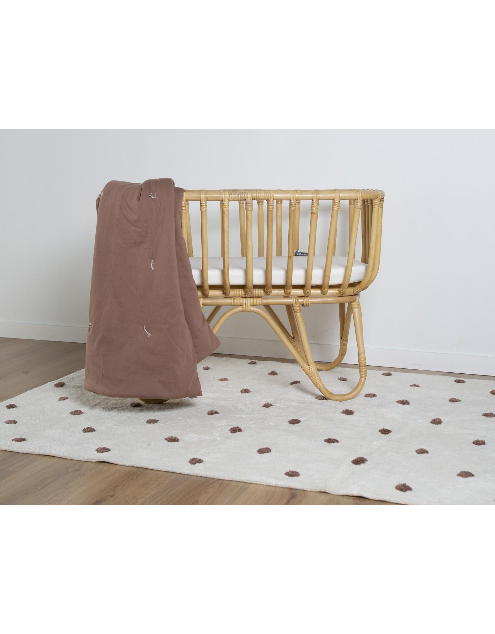 Childhome Tapis d'enfant boules 120x160 - écru / rouille