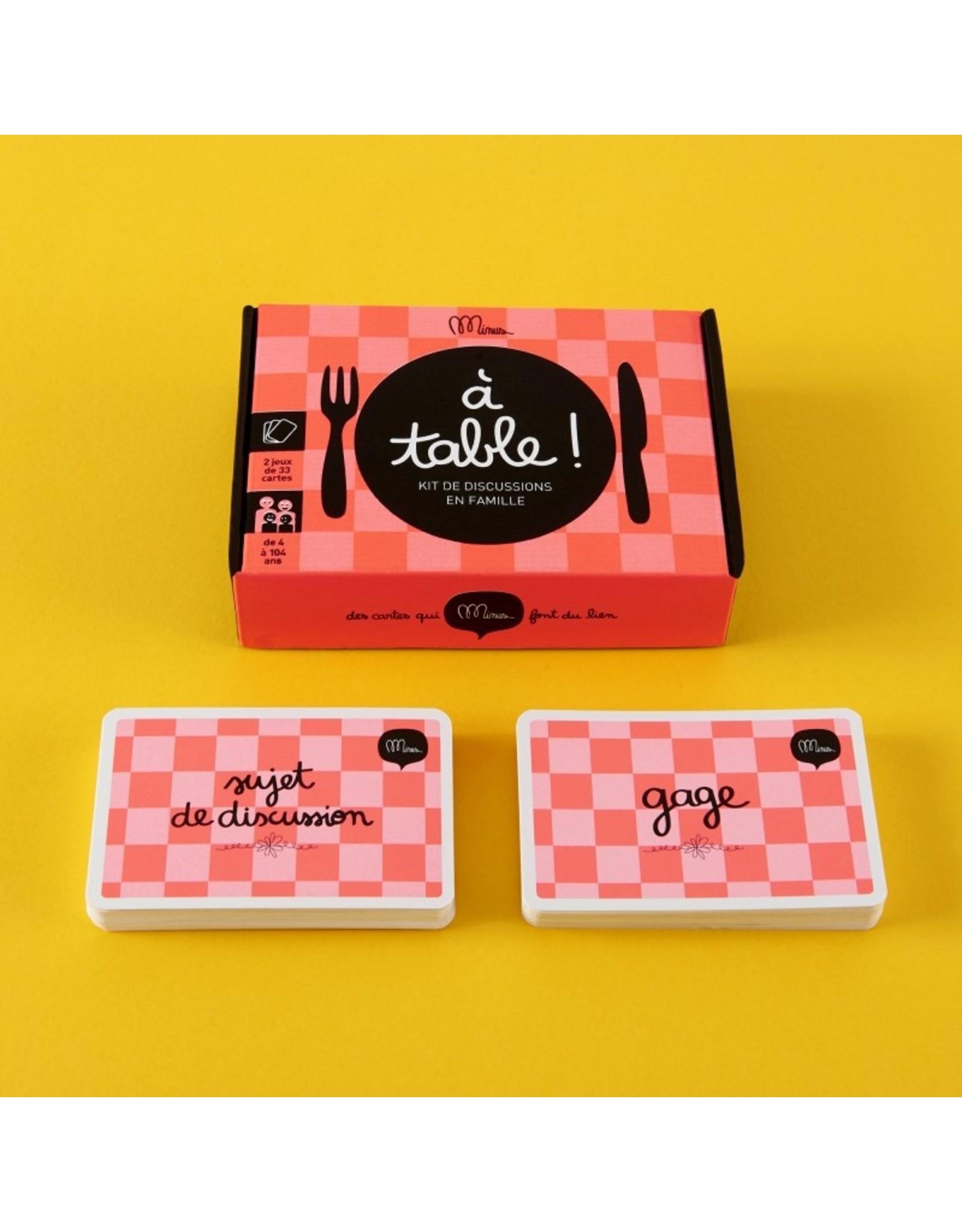 """Minus édition Kit de discussion """"A Table"""""""