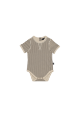 House Of Jamie Body - Charcoal Sheer Stripes