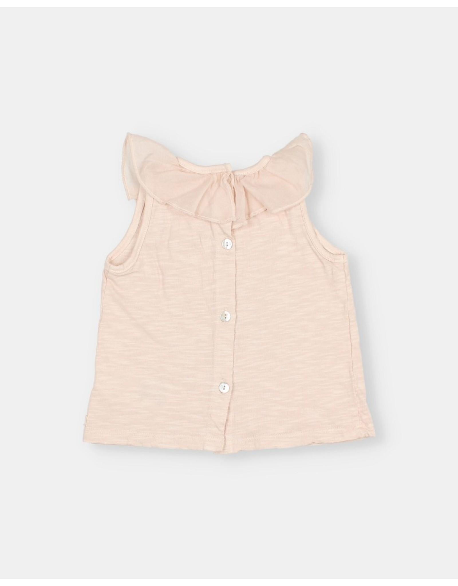 Buho Frill collar tshirt - Rose