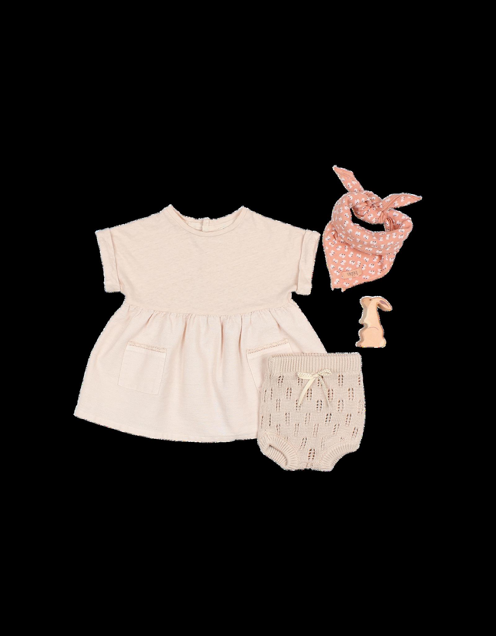 Buho Combi pocket dress  - Rose