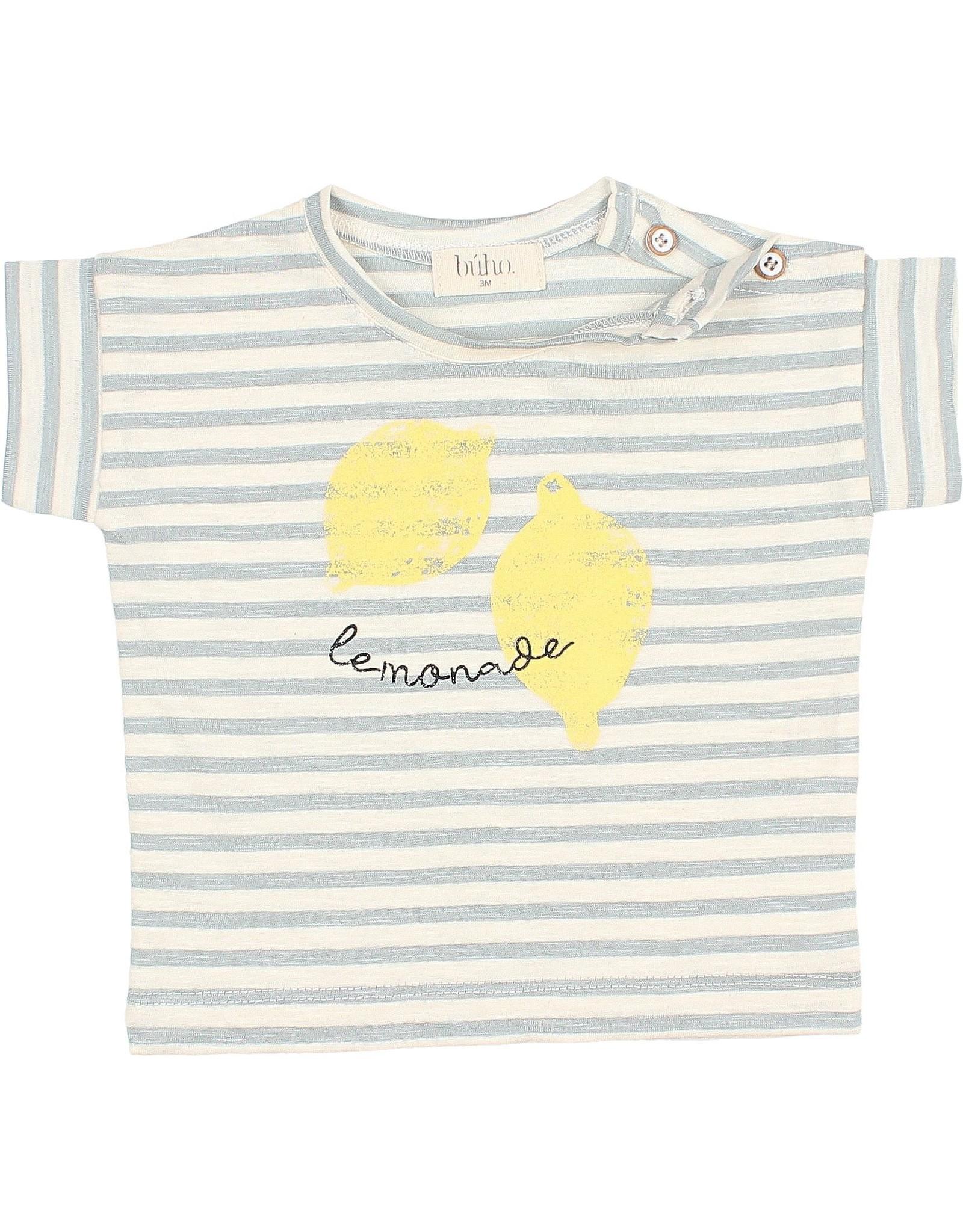 Buho Baby stripes tshirt - Cloud