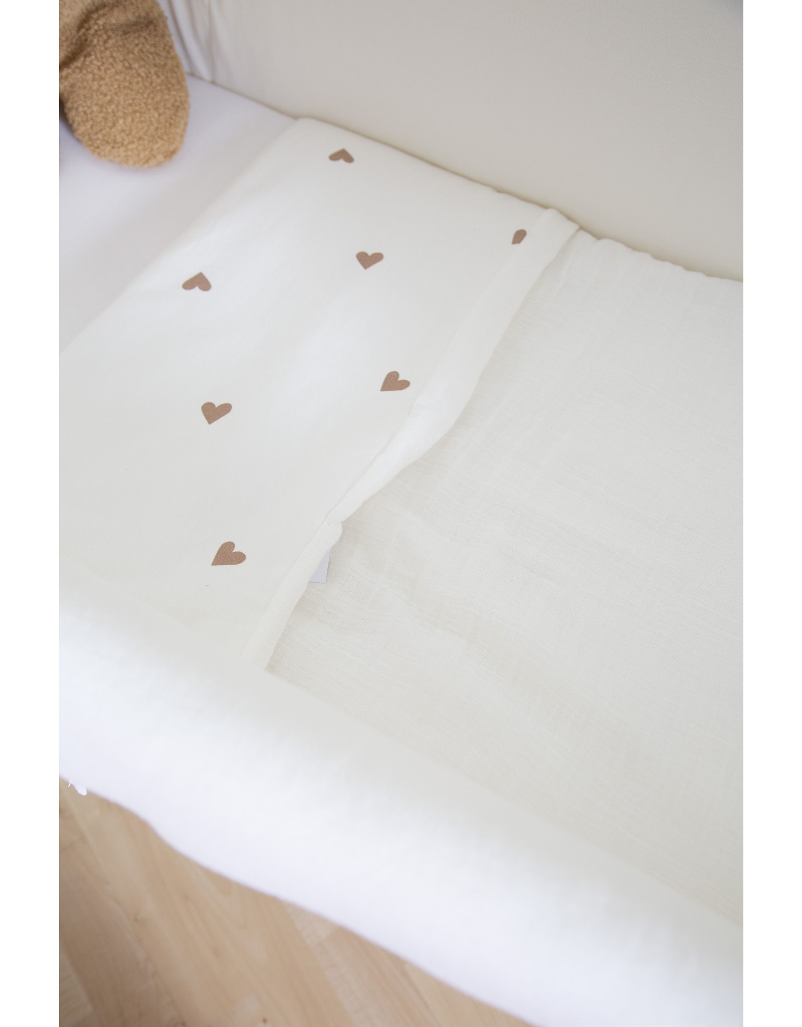 Childhome Couverture  Jersey Hearts + mouseline