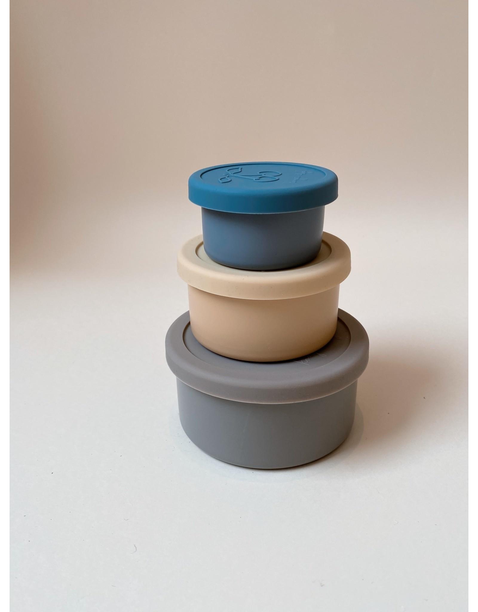 Konges Slojd 3 boites à encas en acier inoxydable - Bleu