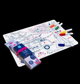 Superpetit Set de table à colorier - Dream Van