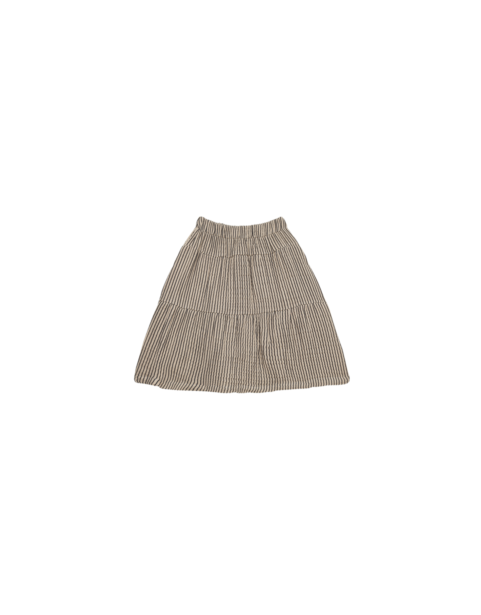 House Of Jamie Jupe mi-longue - Charcoal Sheer Stripes