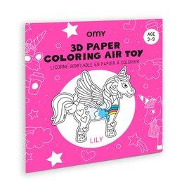 Omy Coloraige 3D - Licorne